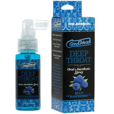 Goodhead Deep Throat Spray Blue Raspberry 2 fl oz - Sexy Nights Deals