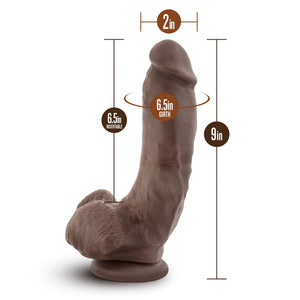 Mr. Mayor 9 inches Dildo with Suction Cup Brown - Sexy Nights Deals