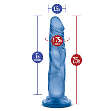 Load image into Gallery viewer, Glow Dicks Kandi Blue Realistic Dildo - Sexy Nights Deals