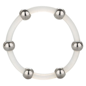Steel Beaded Silicone Ring - X-Large - Sexy Nights Deals