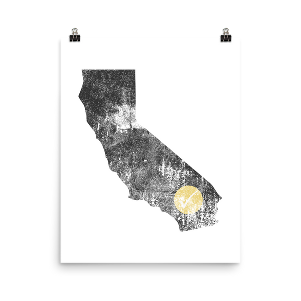 California Checkmark Poster