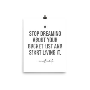 Stop Dreaming Poster