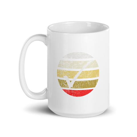 Striped Checkmark Mug