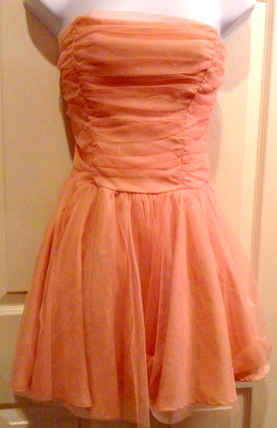 PEACH/PINK SILK TULLE MINI $22