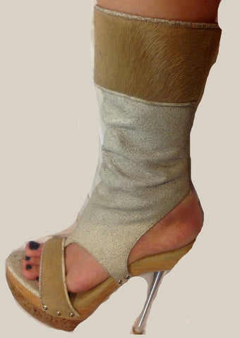 Lady Studio Stilettos with Mink Fur $64