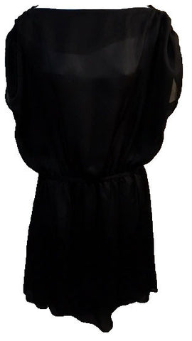 retro black sheer dress $10