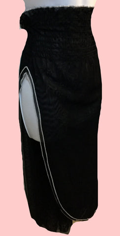 black split sheer skirt $24.50
