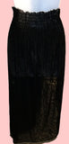 black split sheer skirt $10
