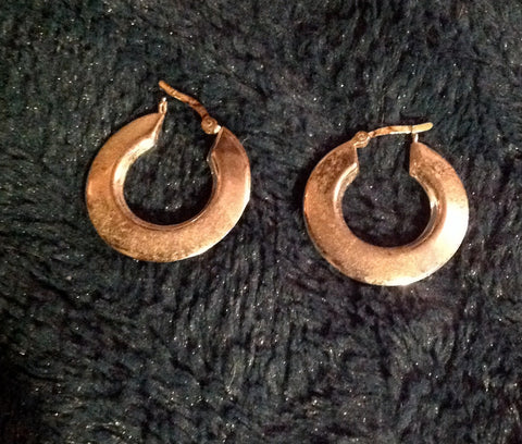 sterling thick small hoops $50.70