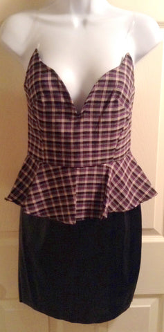 peplum leather dress $20