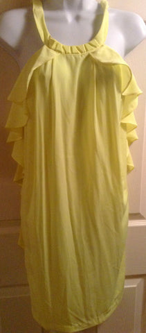 H&M yellow ruffle shift/shirt $11.20