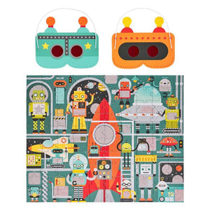 Petit Collage Robot Factory 100 Piece Decoder Puzzle