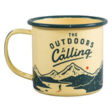Gentlemen's Hardware Outdoors is Calling Enamel Camping Mug