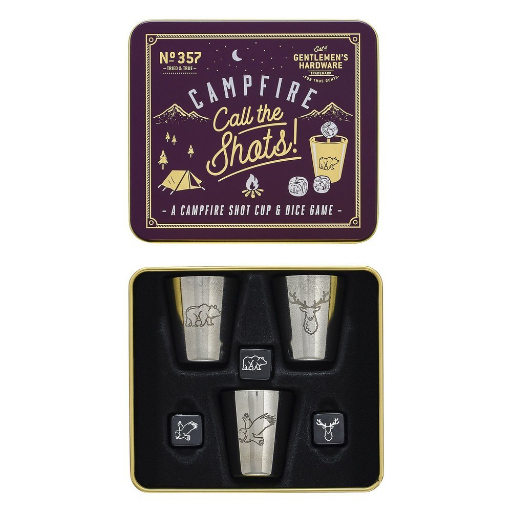 Gentlemen's Hardware Campfire Call The Shots Shot Cup and Dice Game