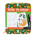 Petit Collage Animals of the World How To Draw Travel Activity Kit