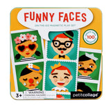 Petit Collage Funny Faces On-The-Go Magnetic Play Set