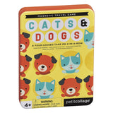Petit Collage Cats + Dogs Four In A Row Magnetic Travel Game