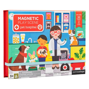 Petit Collage Veterinarian Magnetic Play Scene