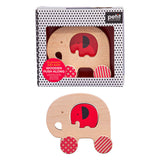 Petit Collage Wooden Push Along Elephant Toy