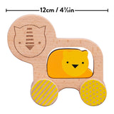 Petit Collage Wooden Push Along Lion Toy