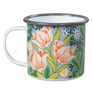 V&A William Morris Enamel Mug