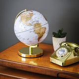 "Wild Wood 10"" Arctic White Metallic Light Up Globe"