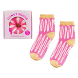 Yes Studio Organic Strawberry Cream Donut Socks