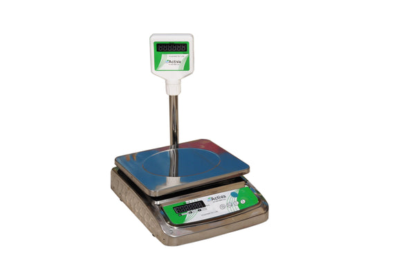 ACTIVA 20kg weighing scale|pole display weight machine for shop|SSbody