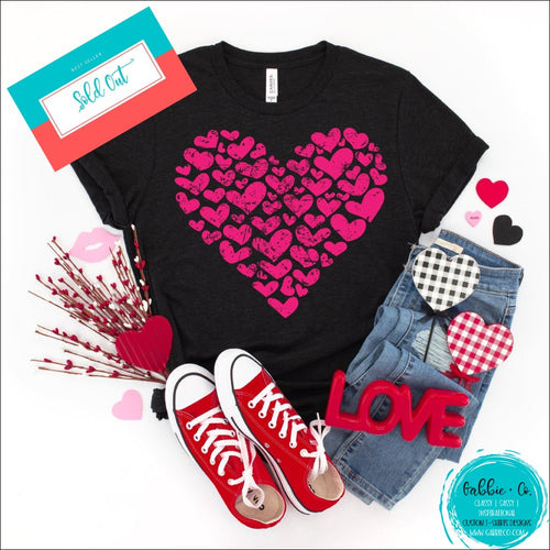 Hearts And More | Valentine Heart Small / Black T-Shirt