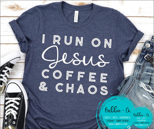 Jesus Coffee And Chaos T-Shirt