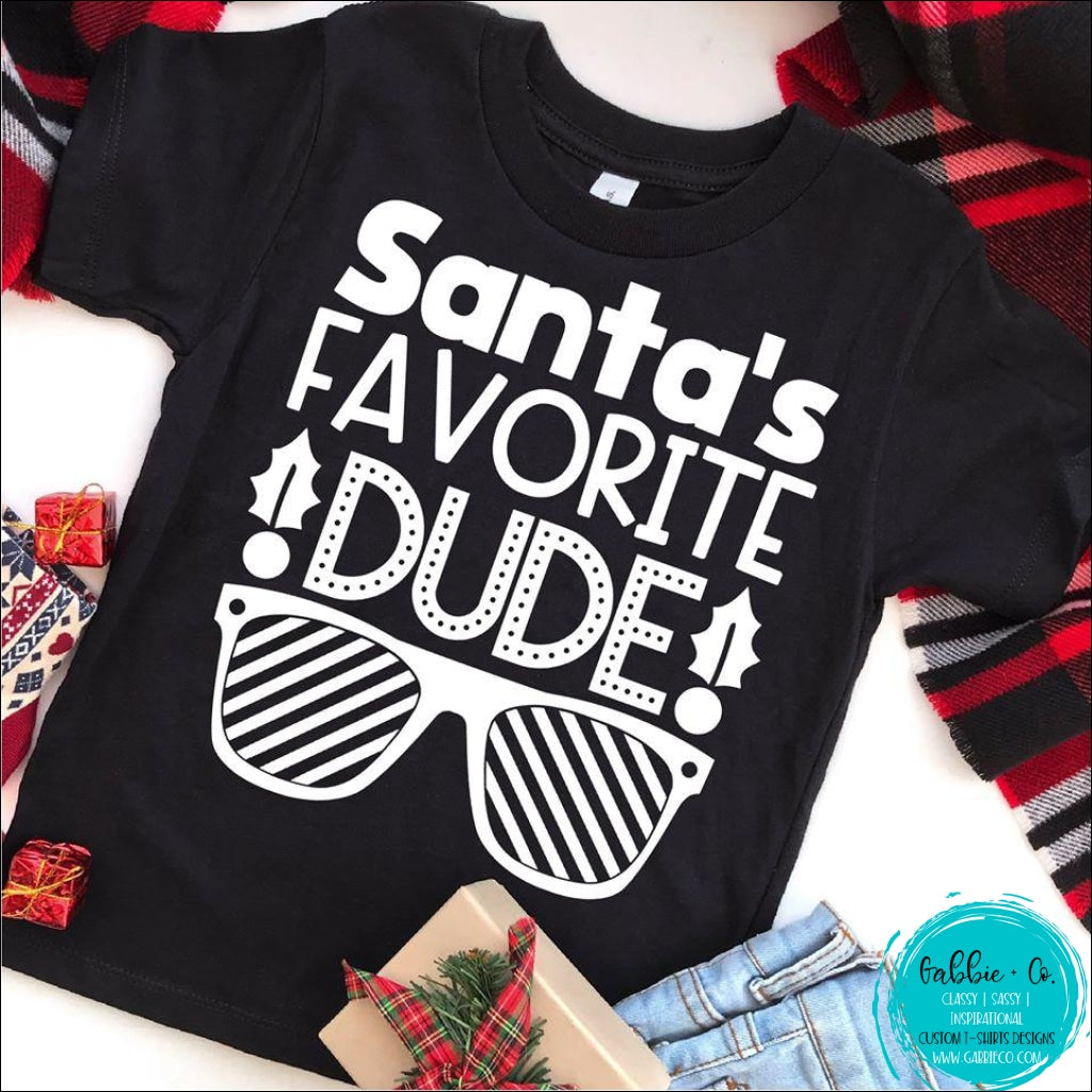 Santas Favorite Dude T-Shirt
