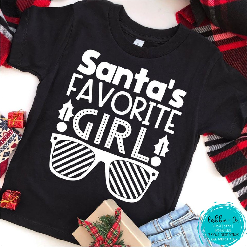 Santas Favorite Girl T-Shirt