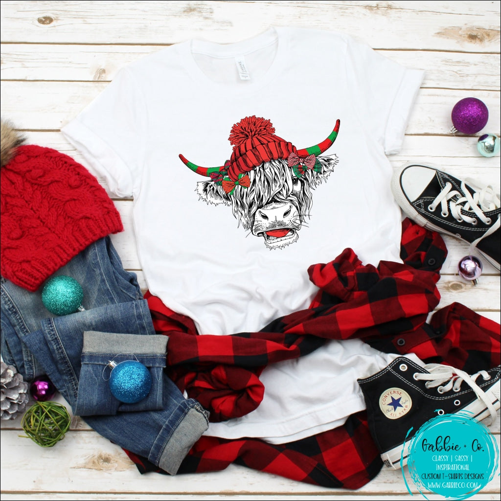 Shaggy Cow Hat T-Shirt