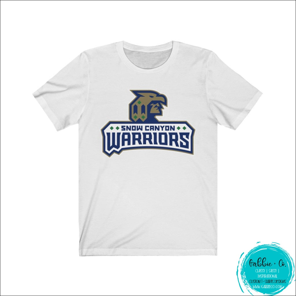 Snow Canyon Warriors Team Spirit (Front & Back Design) Solid White Blend / L T-Shirt
