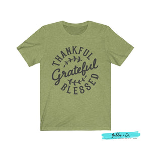 Thankful Grateful Blessed Heather Green / Xs T-Shirt