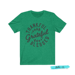 Thankful Grateful Blessed Heather Kelly / Xs T-Shirt