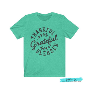 Thankful Grateful Blessed Heather Mint / Xs T-Shirt