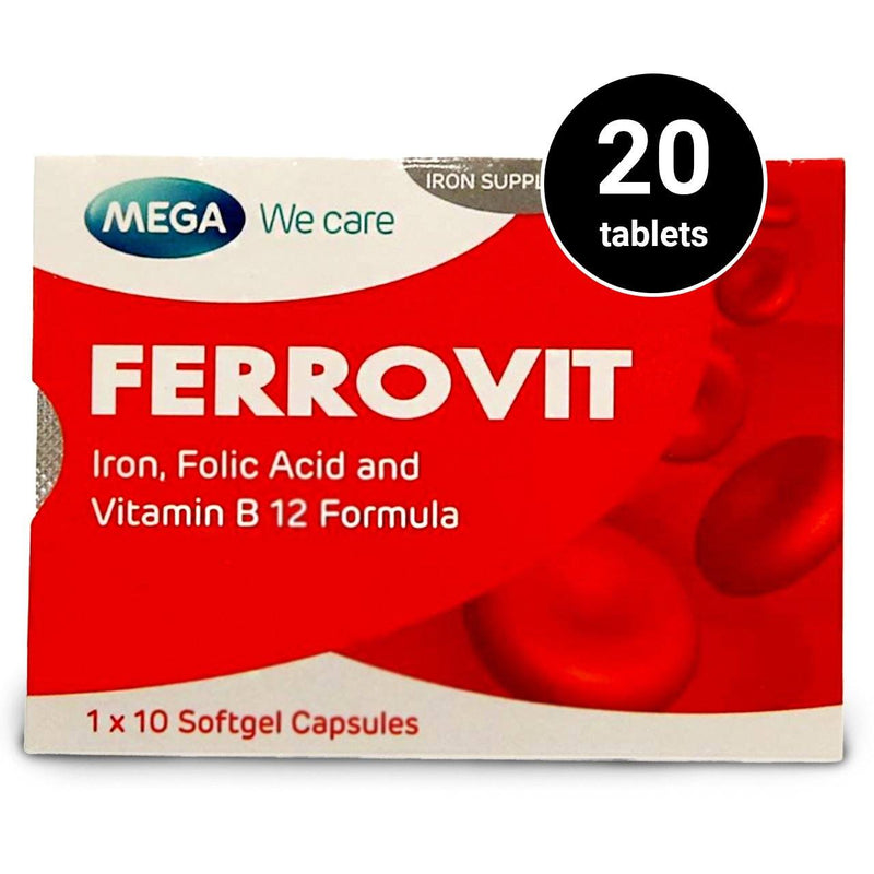 Ferrovit (2 cards of 10 tablets, total 20 tablets) (4479886884982)