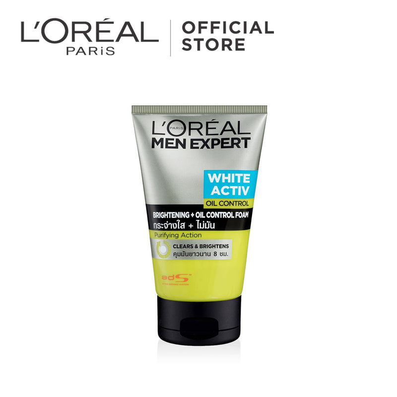 L'Oréal Men Expert White Activ Brightening & Oil Control Foam 100ml