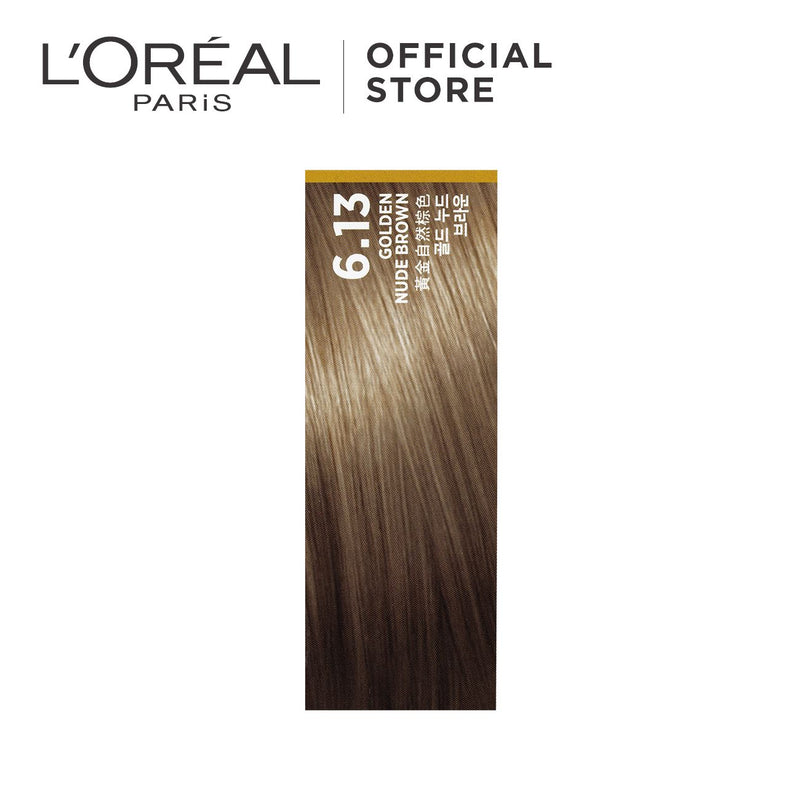 L'Oréal Excellence Fashion Hair Color 6.13 Golden Nude Brown 172ml