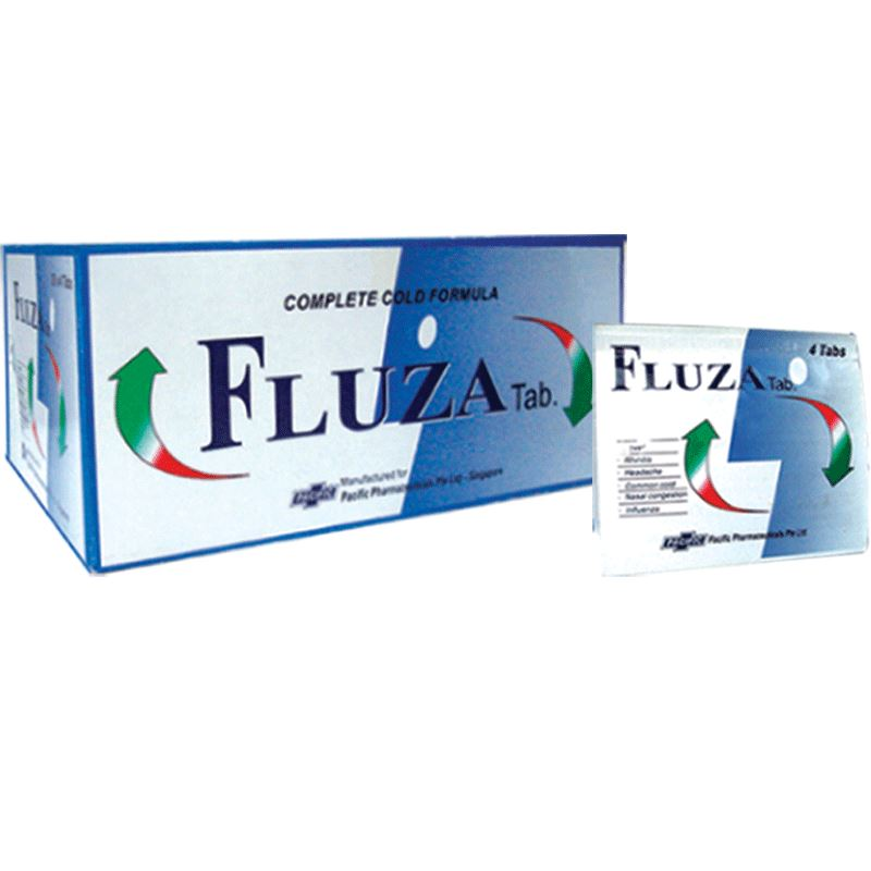 Fluza (10 cards of 4 tablets, total 40 tablets) (4513911308406)