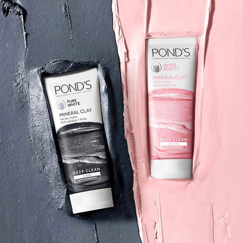 Pond's White Beauty Clay Facial Foam 40g