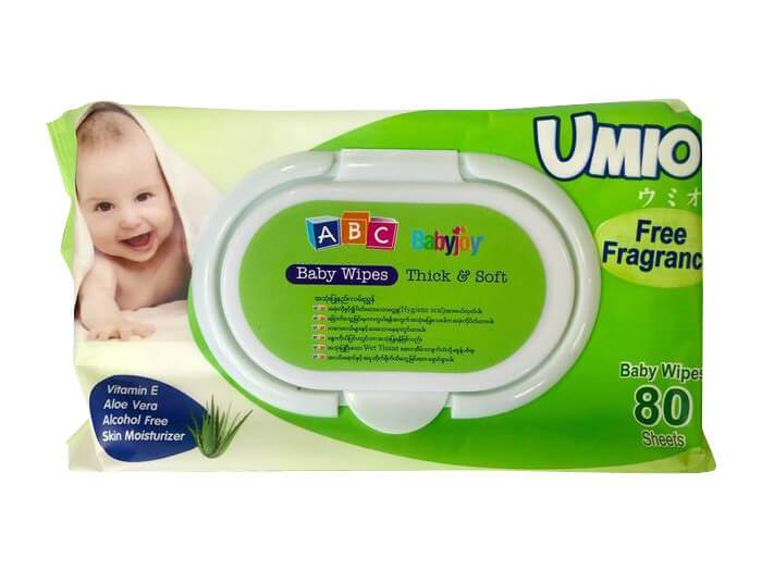 ABC Baby Wipes (Free Fragrance - 80 sheets)