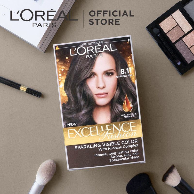 L'Oréal Excellence Fashion Hair Color 8.11 Mid Ash 172ml