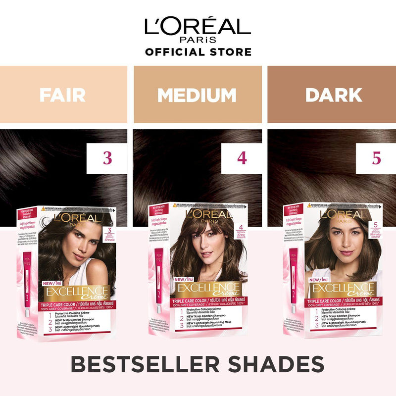 L'Oréal Excellence Crème Hair Color 3 Dark Brown 172ml