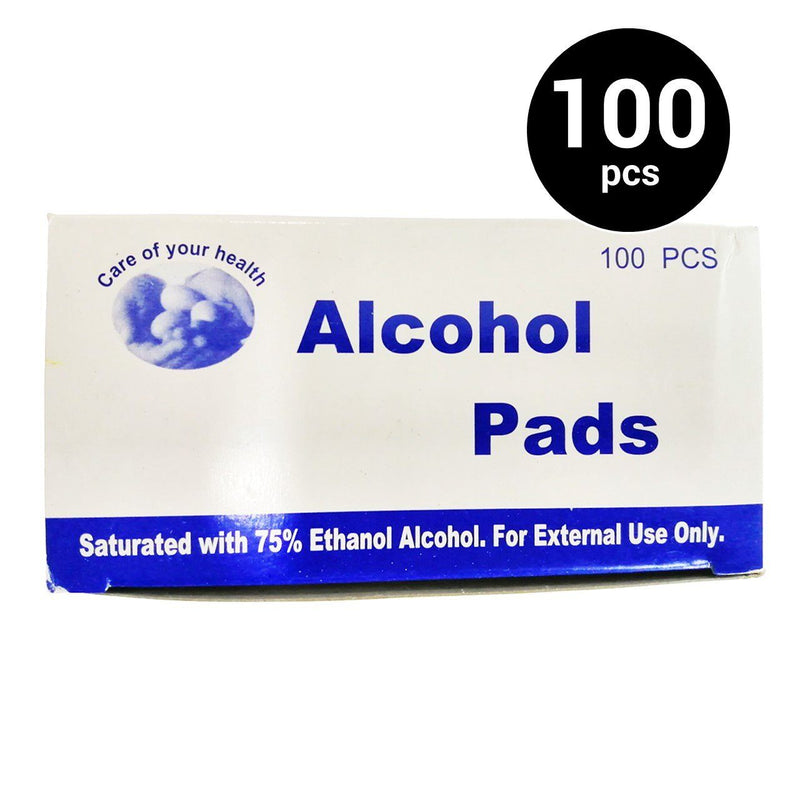 Alcohol pads (1 box, 100 pcs) (4485095227510)