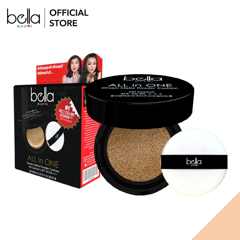 Bella All in One Dream Matte Powder Cushion