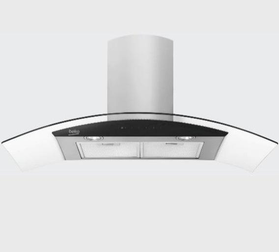 Beko Curved Glass 90cm Hood HCG92940B