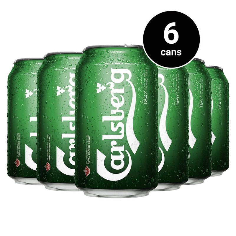 Carlsberg Lager Beer Can 330Ml 6 Cans