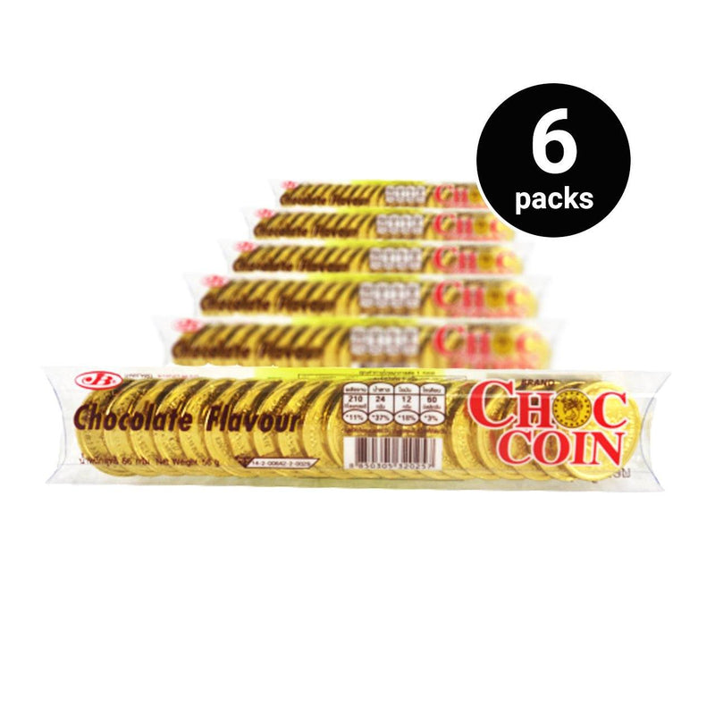 JB Choc Coin Chocolate 56g (6 pack, 120 pcs)